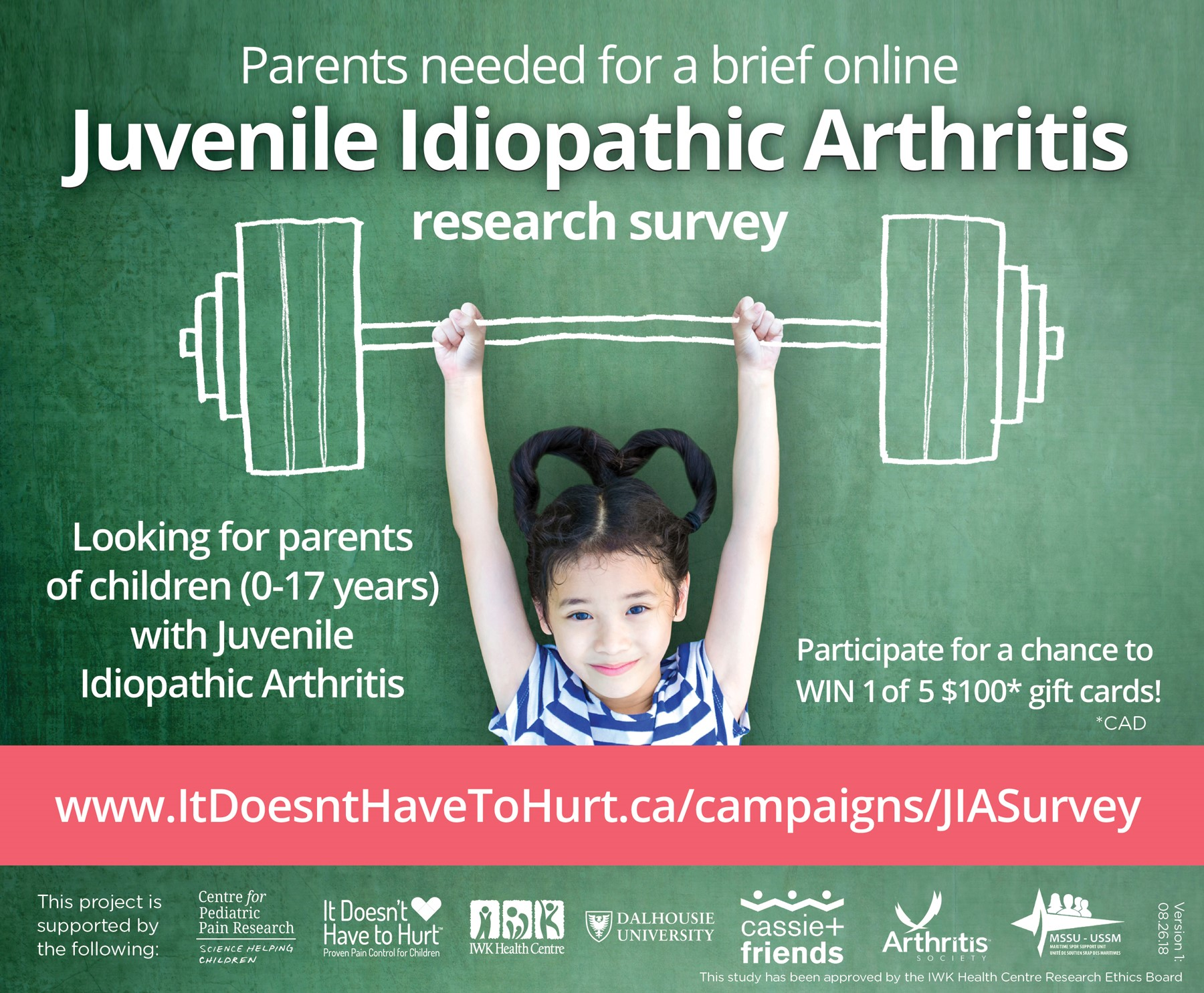 Your input needed! Help us relieve children's JIA pain - Cassie and
